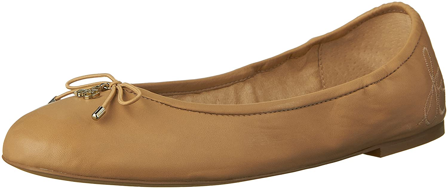 Sam Edelman Women's Felicia Ballet Flat B00A8PC62M 10 B(M) US|Classic Nude Leather