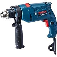 Furadeira de Impacto GSB 550 RE 220V 14 Brocas + Maleta, Bosch 06011A02E2-000, Azul