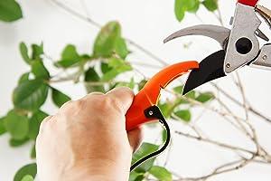 Q-yard QY-007A Handheld Multi-Sharpener for Pruning Shears, Garden Hand Pruner