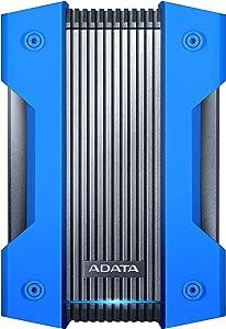 ADATA HD830 2TB Ruggedized IP68 Extra Strength USB3.1 Waterproof Dustproof Drop-Proof External Hard Drive Blue (AHD830-2TU31-CBL)