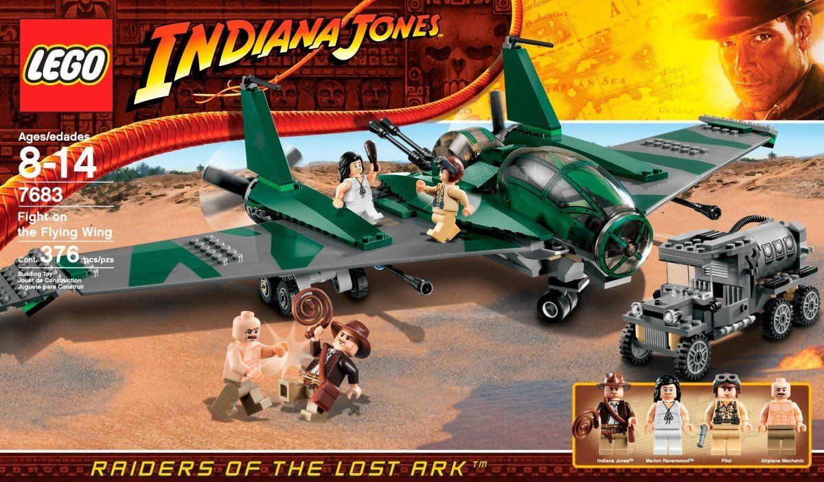 amazon com lego indiana jones fight on the flying wing 7683