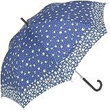 傘と日傘専門店リーベン 長傘 ネイビー 65cm×8本骨 大きいジャンプ傘 女性用 マーガレット LIEBEN-0478