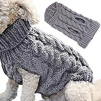 Petyoung Hundtröja väst varm rock, husdjur mjuk stickning ull vintertröjor stickade virkade rockar kläder för små hundar