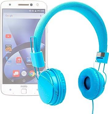 DURAGADGET Auriculares De Diadema Color Azul para Smartphone Lenovo Moto Z/Moto Z Force/Phablet Lenovo PHAB2 / Pro/Plus Combinar con Su Móvil!: Amazon.es: Electrónica