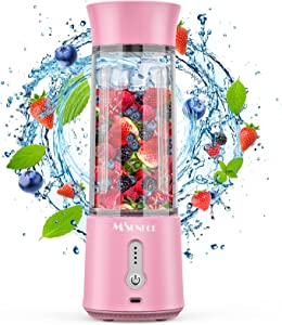 Portable Blender, 16.9 Oz Personal Blender for Shakes and Smoothies Fruit Juice, Mini Blender with Stainless Steel Six Blades, 4000mAh Battery, USB Rechargeable Mixer for Sports Office Travel Gym