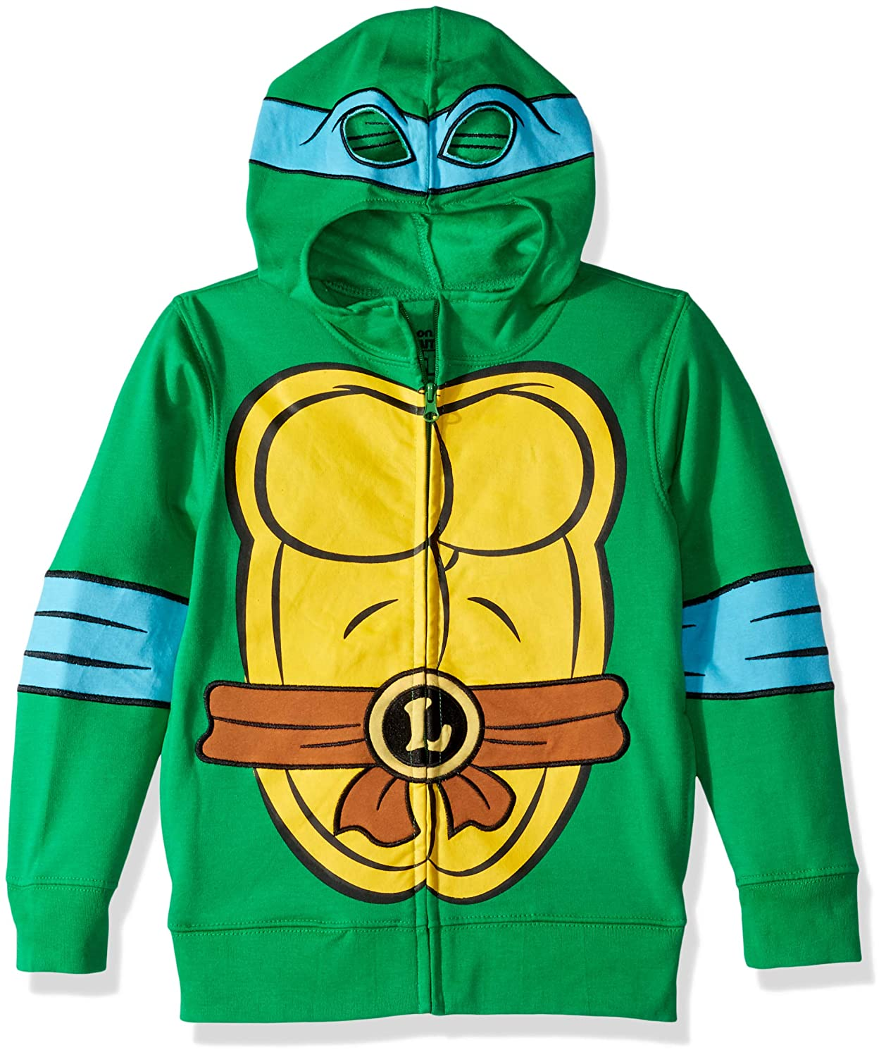 Teenage Mutant Ninja Turtles Boys' Leonardo Reptilian Costume Zip Up Hoodie with Mask