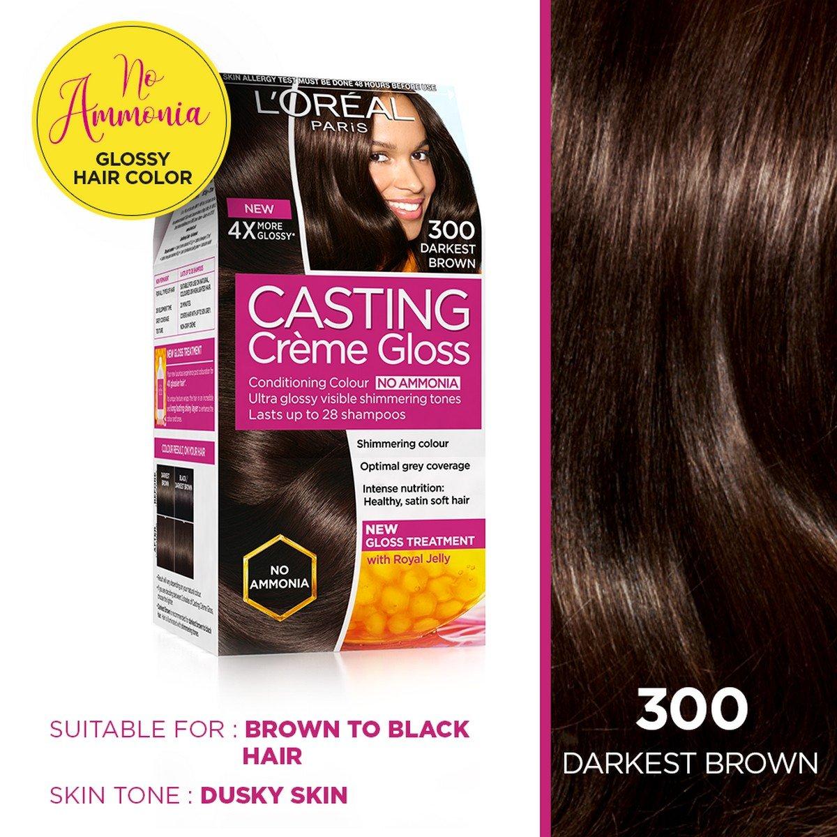 Buy Loreal Paris Casting Creme Gloss Darkest Brown 300 875g72ml