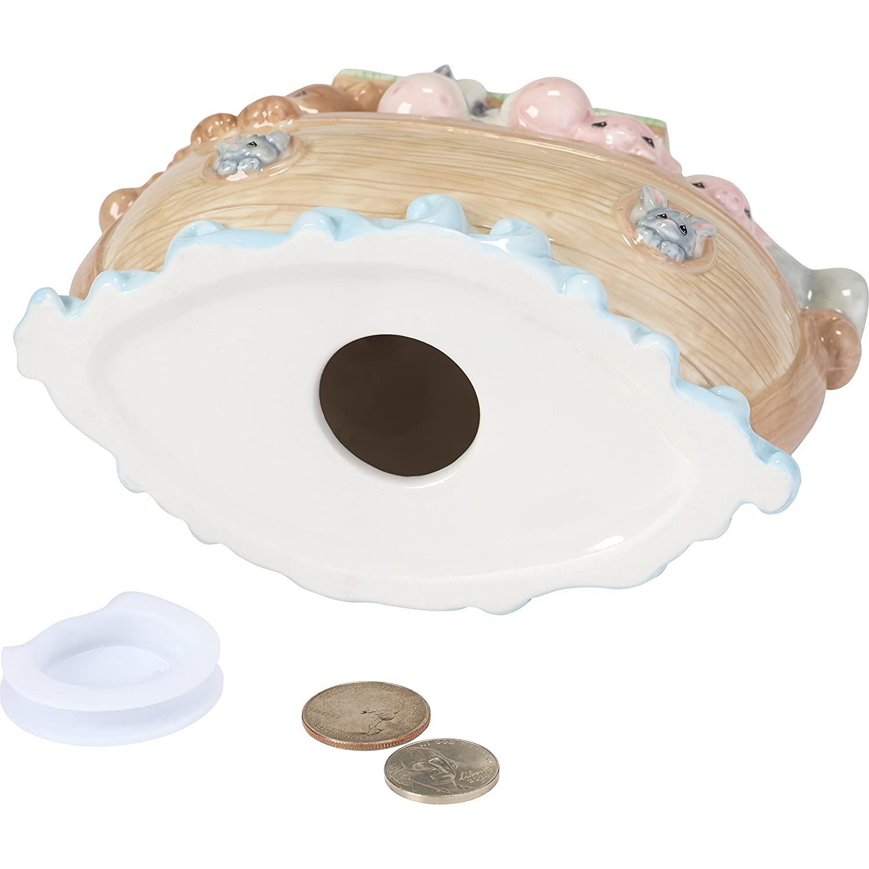 Precious Moments Overflowing with Love Noahs Ark Top Slot Porcelain Nursery D/écor Baby Bank