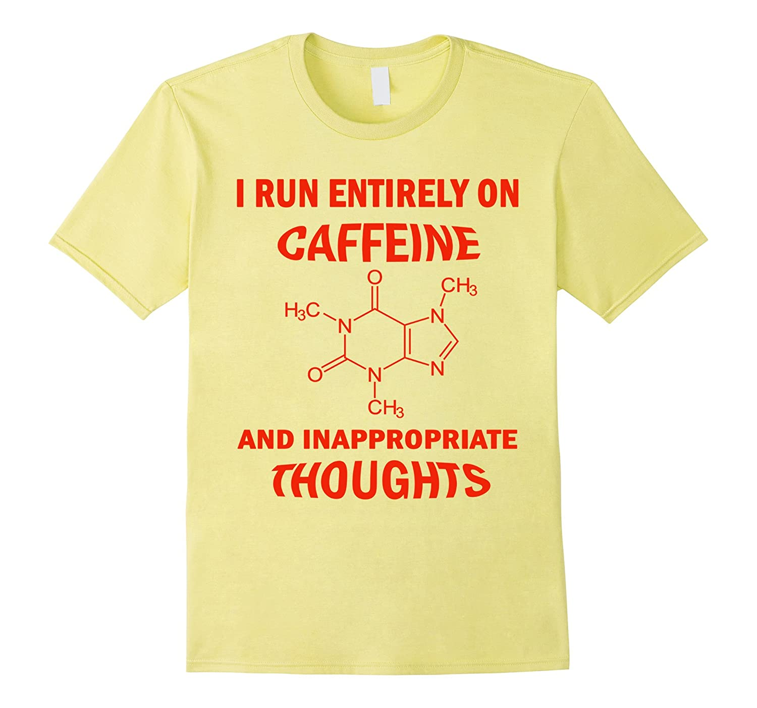 I Run On Caffeine Coffee And Element Table Graphic Tee-Vaci