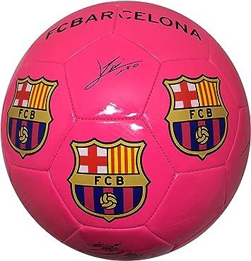 Balón Pelota de fútbol FCB Barcelona con Firmas Jugadores Rosa ...