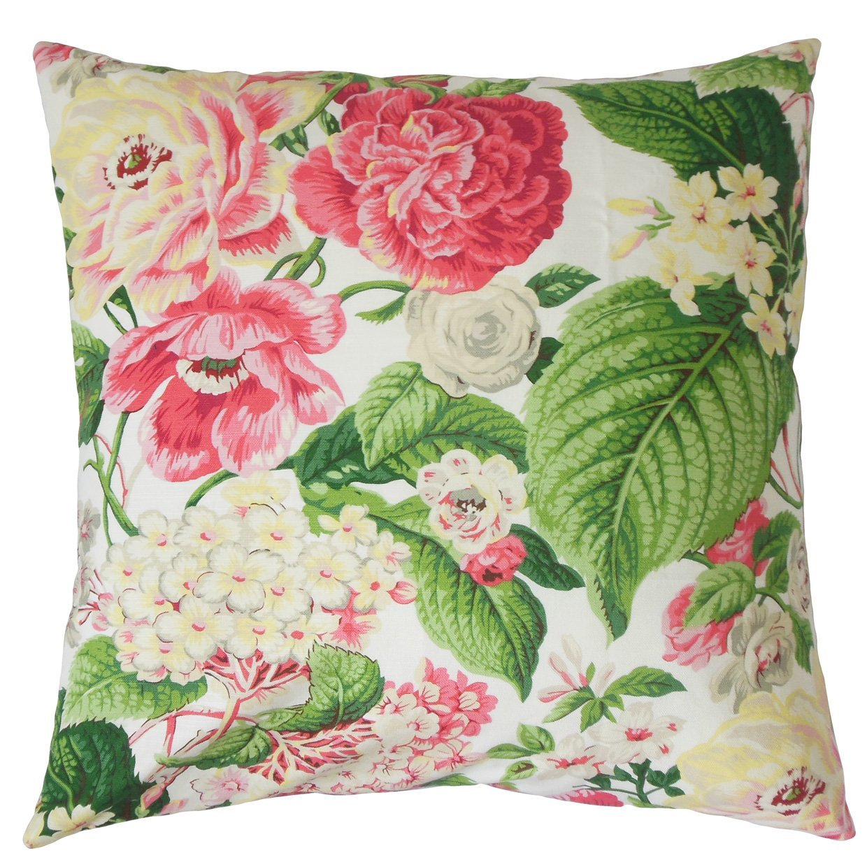 The Pillow Collection Rose Green Kalonice Floral Bedding Sham King//20 x 36
