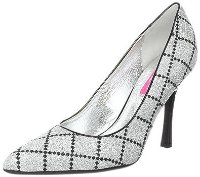 Isaac Mizrahi New York Women's Loretta2 Pump Silver/Black Size 6.0