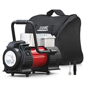 Kensun 12V DC Portable Air Compressor Pump - Upgraded 150W Digital Tire Inflator for Car Tires and Inflatables