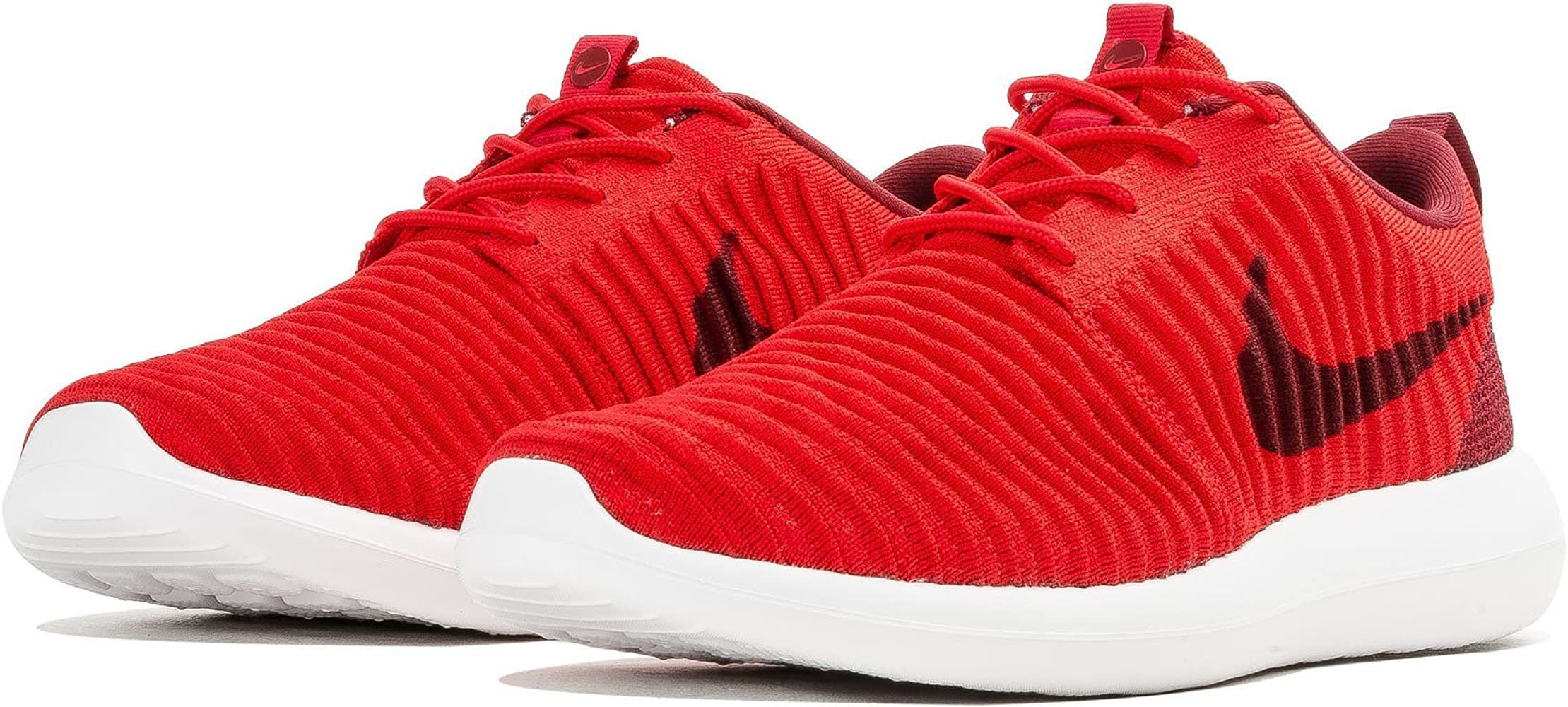 Noveno Vuelo Sustancial  Amazon.com: Nike Men's Roshe Two Flyknit Running Shoes, University Red/Black /White, Size 11.5 (US): Clothing