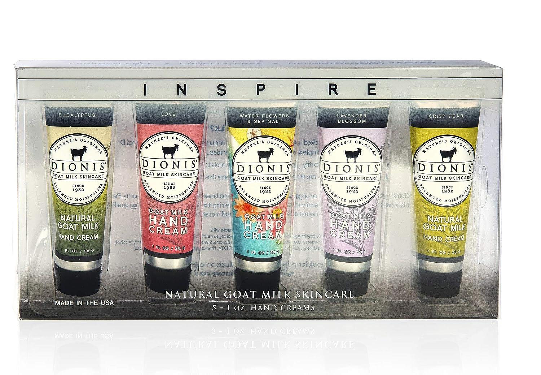 Dionis Goat Milk Skincare Hand Cream Inspire Gift Set (5 Pack, 1 Oz Each)