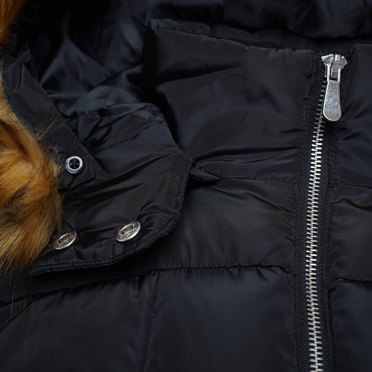 Ladies Parka Style Quilted Padded Hooded Water Repellent Winter Coat Jacket