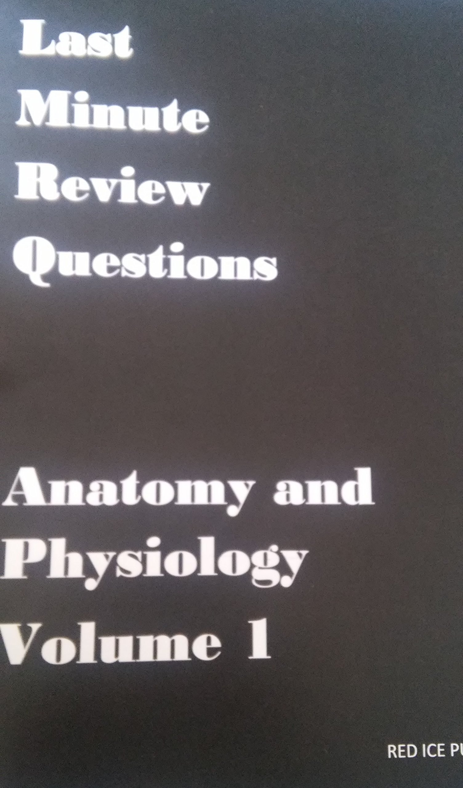 Last minute review questions Anatomy and Physiology vol 1: Amazon ...