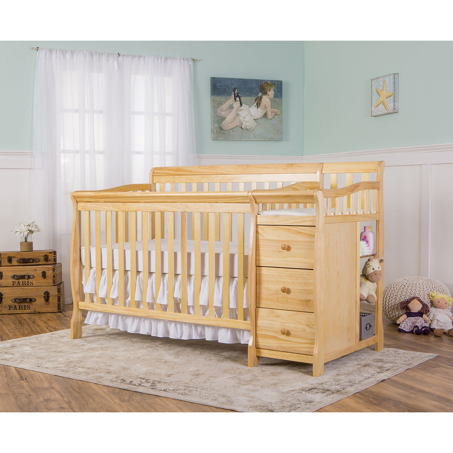 Dream On Me 5 in 1 Brody Convertible Crib with Changer, Natural by Dream On Me (Image #4)