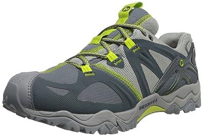 Merrell Women's Grassbow Sport Waterproof Trail Running Shoe,Dark  Slate/Lime,7.5 M