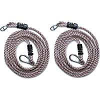 HIKS Tree Swing Conversion / Extension Rope, Fully Adjustable Ideal For Hanging a Swing From a Tree Branch - Pack Of 2