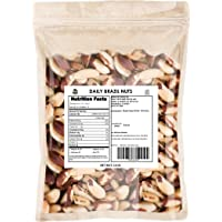 DAILY BRAZIL NUTS BULK POUCH (3 LB) Non-GMO, CERTIFIED GLUTEN FREE, KOSHER CERTIFIED, UN-SALTED, BULK PRICING, KOSHER CERTIFIED