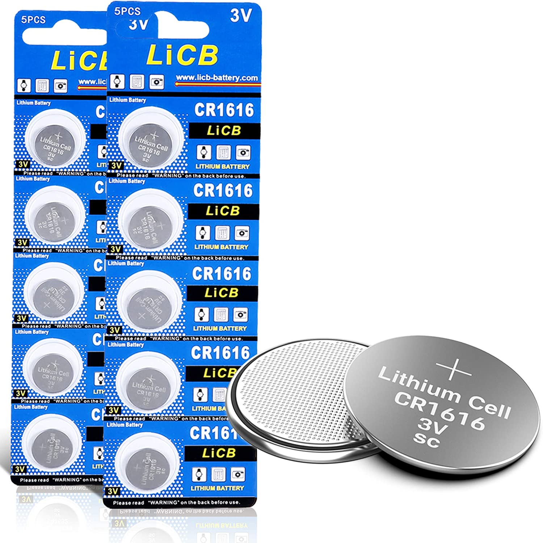 Licb 10 Stück Cr1616 3v Lithium Knopfzellen Cr 1616 Elektronik