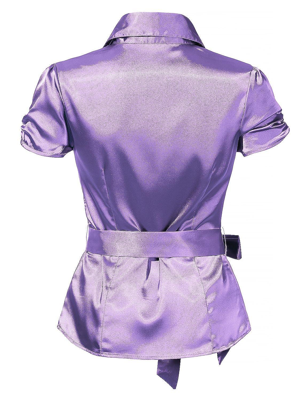 Lavender Satin Blouse Anlis