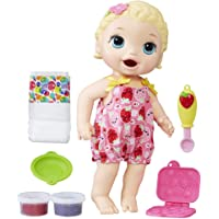 Baby Alive Super Snacks Snackin' Lily Baby: Blonde Baby Doll That Eats, with Reusable Doll Food, Spoon and 3 Accessories, Perfect Doll for 3-Year-Old Girls and Boys and Up