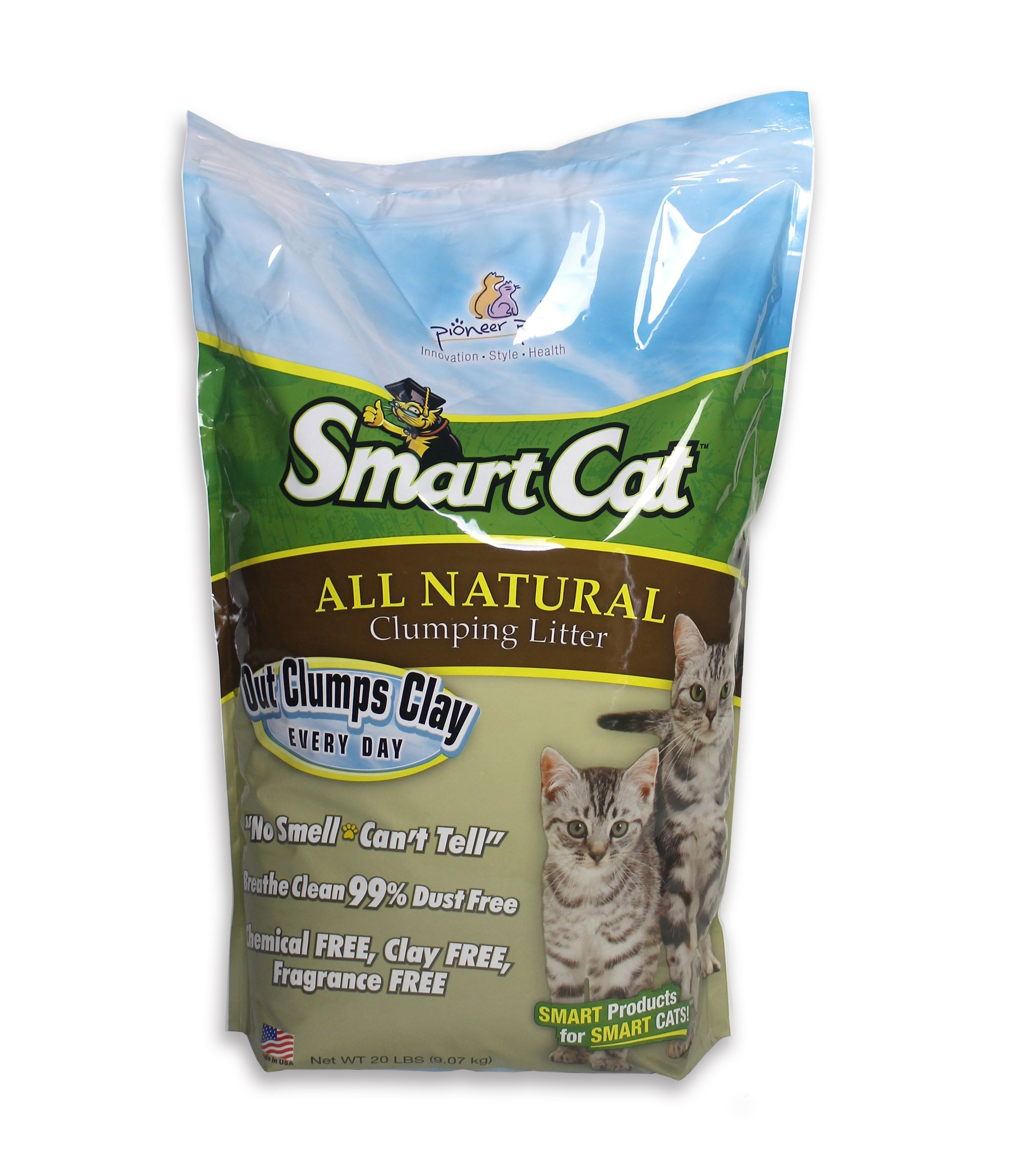 SmartCat All Natural Clumping Litter, 20-Pound by SmartCat