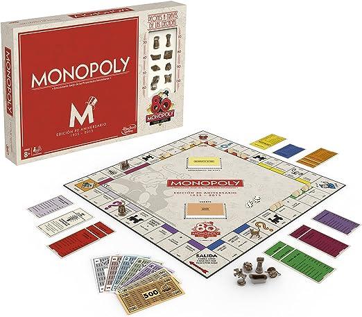 Hasbro Gaming (B0622105) - Monopoly 80 Aniversario, Juego de Mesa: Amazon.es: Juguetes y juegos