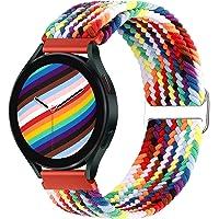 Runostrich Bransoletka pleciona, elastyczna Solo Loop 20 mm, kompatybilna z Samsung Galaxy Watch 3 41 mm / Active2 44 mm…