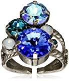 """Sorrelli """"Electric Blue"""" Crystal Assorted Rounds Ring, Size 7-9"""