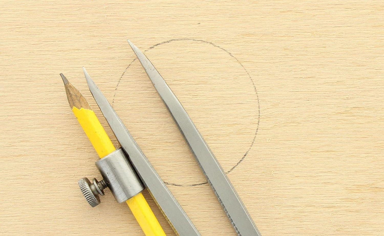 B603 HEDUE Compas pointu avec porte-crayon et arc acier forg/é