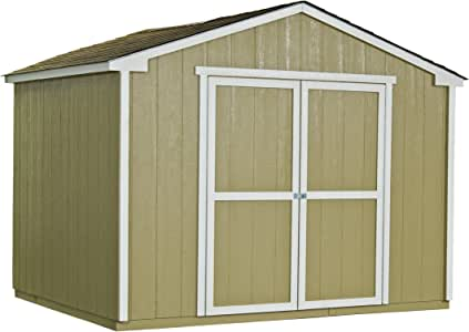 Handy Home Products Cumberland Wooden Storage Shed with Floor, 10 by 8-Feet