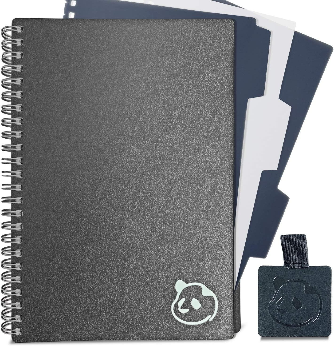 """Daily Planner 2.0 - by Panda Planner 2020-2021 - Monthly Calendar, Weekly Organizer and Day Planner Sections - Undated and Wire Binding - 3 Month Planner - 8.25"""" x 5.75"""" - Gray : Office Products"""