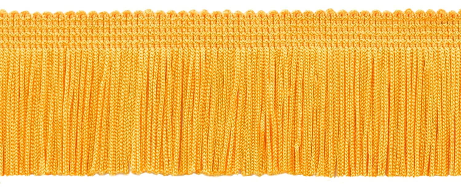 DecoPro 13.5 Yard Value Pack of 2 Inch Chainette Fringe Trim, Style# CF02 Color: Flag Gold - FG (41 Feet / 12.5M)