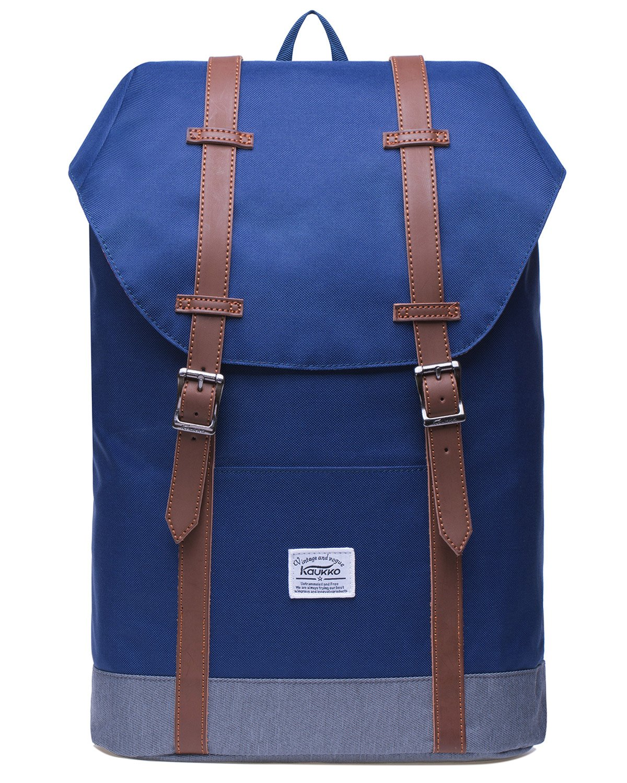 KAUKKO Rucksack Damen Herren Vintage Reiserucksack für 14  Notebook Lässiger Daypacks Schultaschen B07862B9C5 Ruckscke Fairer Preis