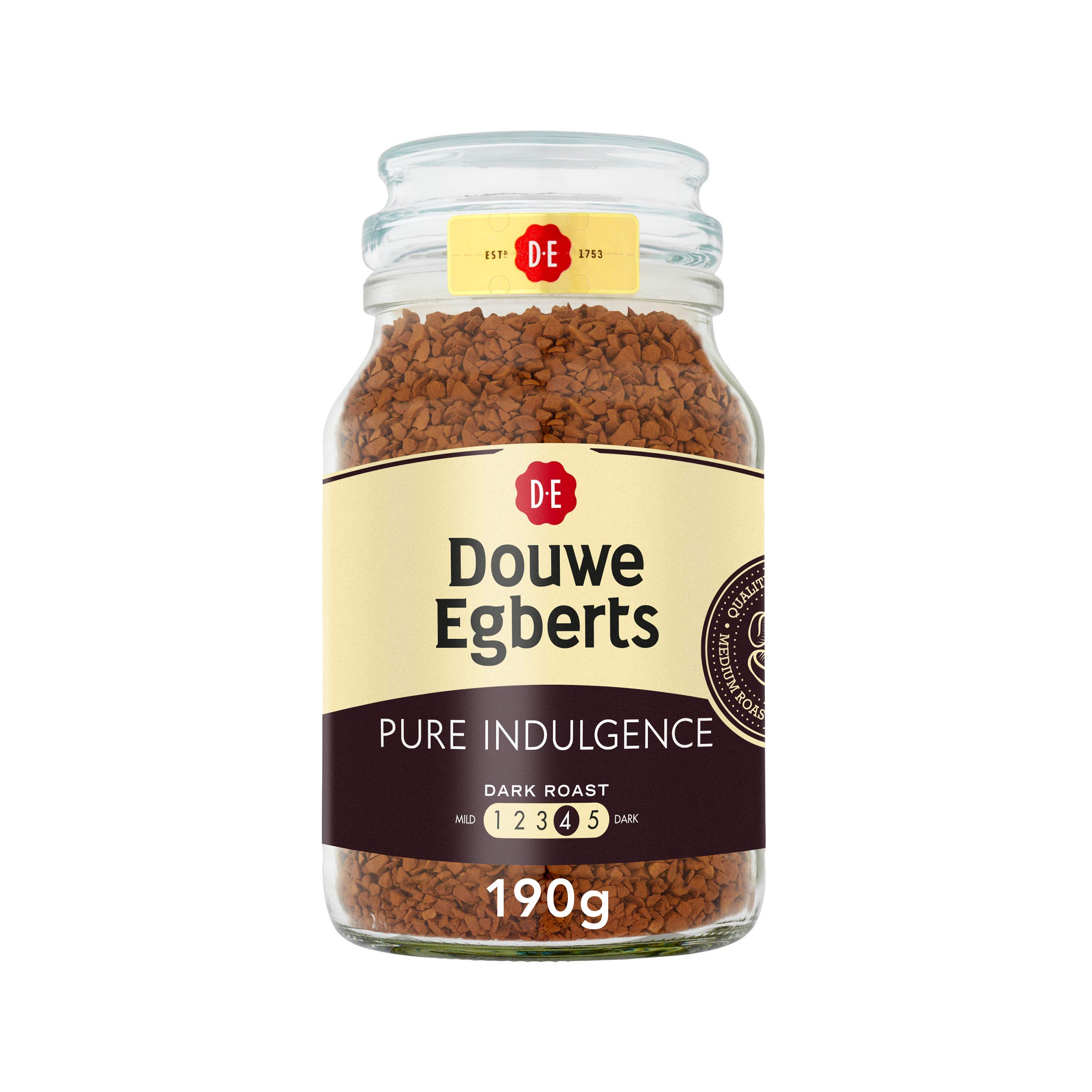 Douwe Egberts Pure Indulgence Instant Coffee in Jar, Dark Roast, 7.05-Ounce, 200 gram