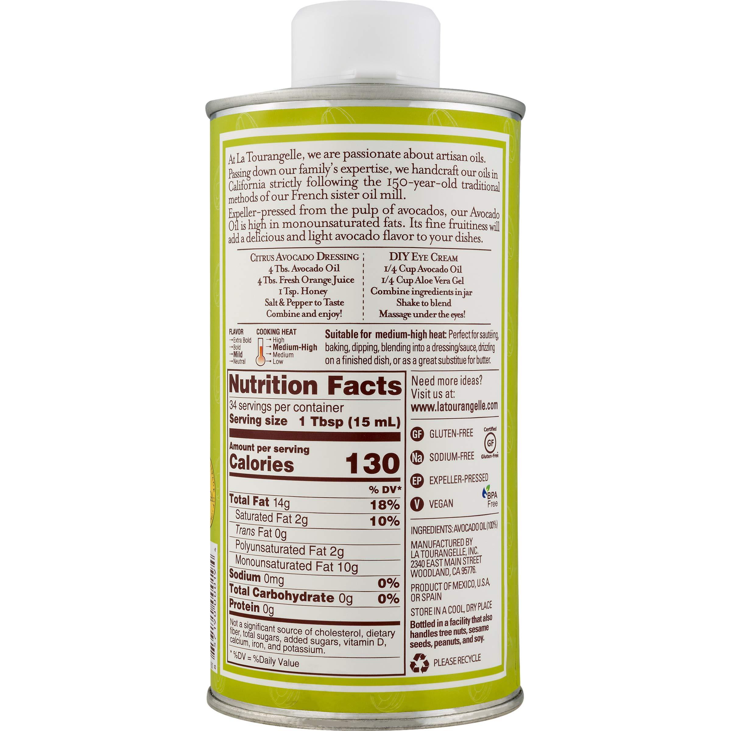 La Tourangelle Avocado Oil 16.9 Fl. Oz., All-Natural, Artisanal, Great for Salads, Fruit, Fish or Vegetables, Buttery Flavor by La Tourangelle (Image #4)