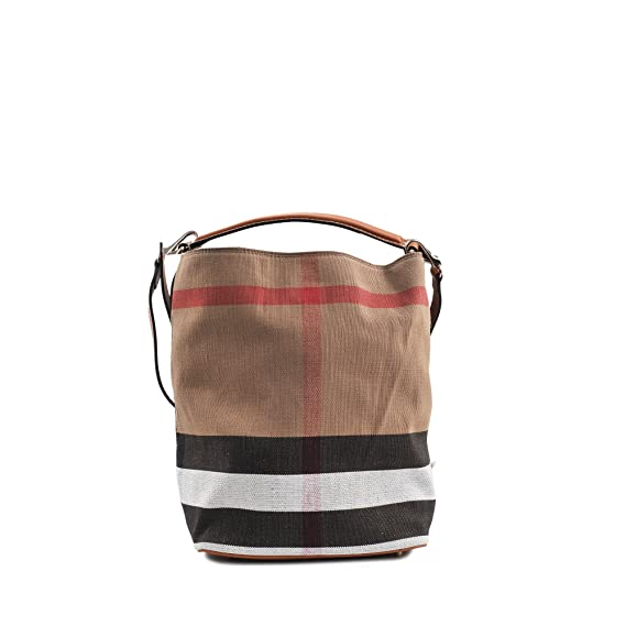 Burberry The Ashby Medium Canvas Check Tote - Saddle Brown  Amazon.ca   Watches dcd8f17691