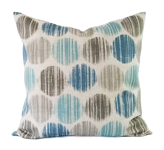 Blue And Brown Pillow Cover Polka Dot Pillow Custom Pillow Sham Cool Blue And Brown Decorative Pillows