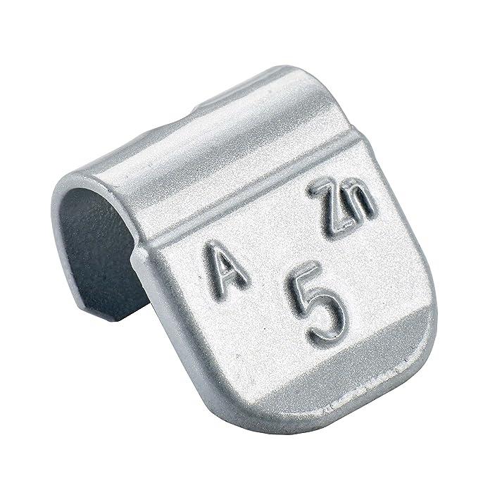 Pesi per equilibratura 100x Pesi equilibratura argento per cerchioni in acciaio Tipo 84U 5g contrappesi ruote