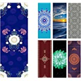Heathyoga Hot Yoga Towel Non Slip, Exclusive Corner Pockets Design, 100% Microfiber Yoga Mat Towel for Hot Yoga, Pilates and Fitness. Free Spray Bottle Included,
