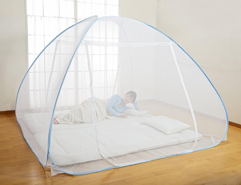 ワンタッチ蚊帳 底付き 200×200×155cm
