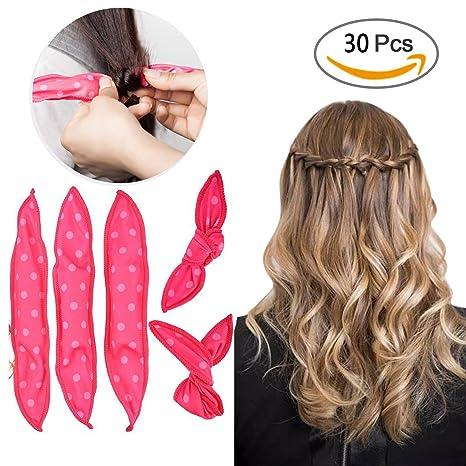 YiKiMira - Rizadores de pelo de espuma flexible, sin calor, 30 unidades de rodillo