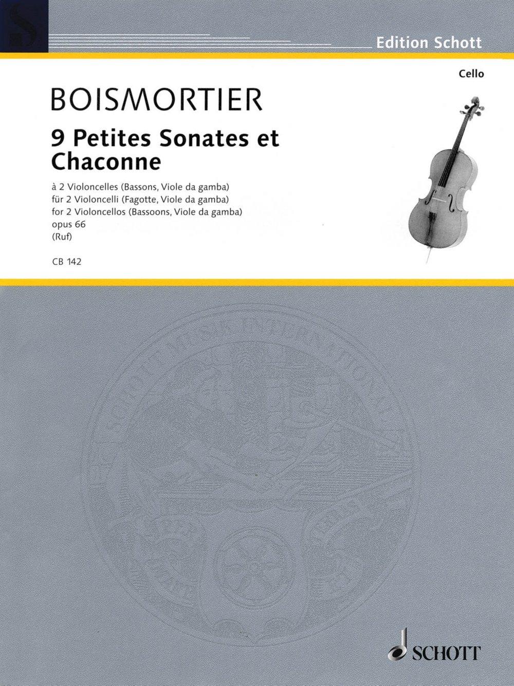 Download Schott 9 Little Sonatas and Chaconnes (2 Cellos) Schott Series pdf