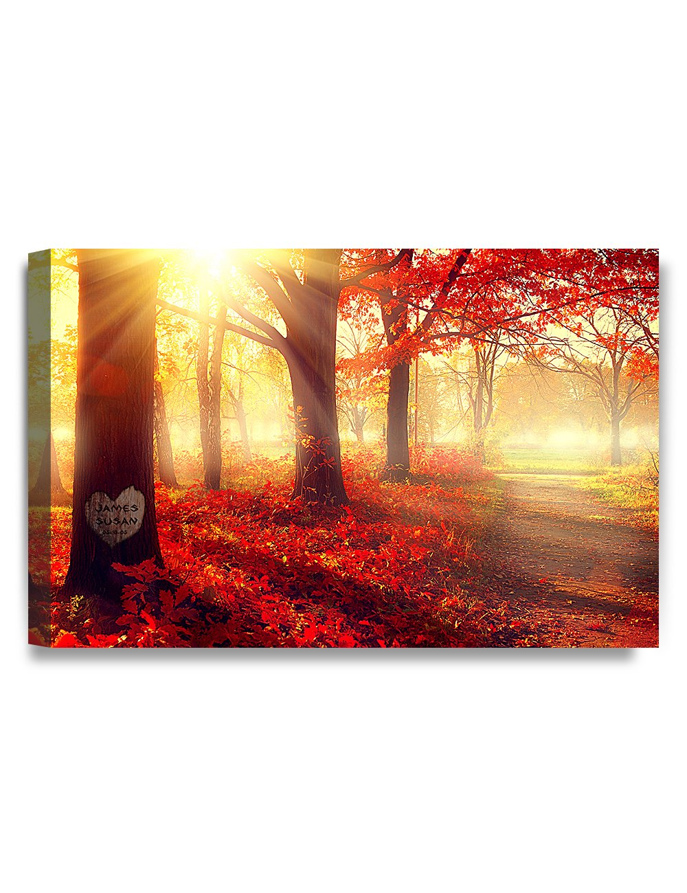 IPIC - ''You Are My Sunshine'', Personalized Artwork with Names and Date on, Perfect love gift for Anniversary,Wedding,Birthday and Holidays. Picture size: 30x20'', Framed Size: 33x23x1.25'' by IPIC (Image #2)