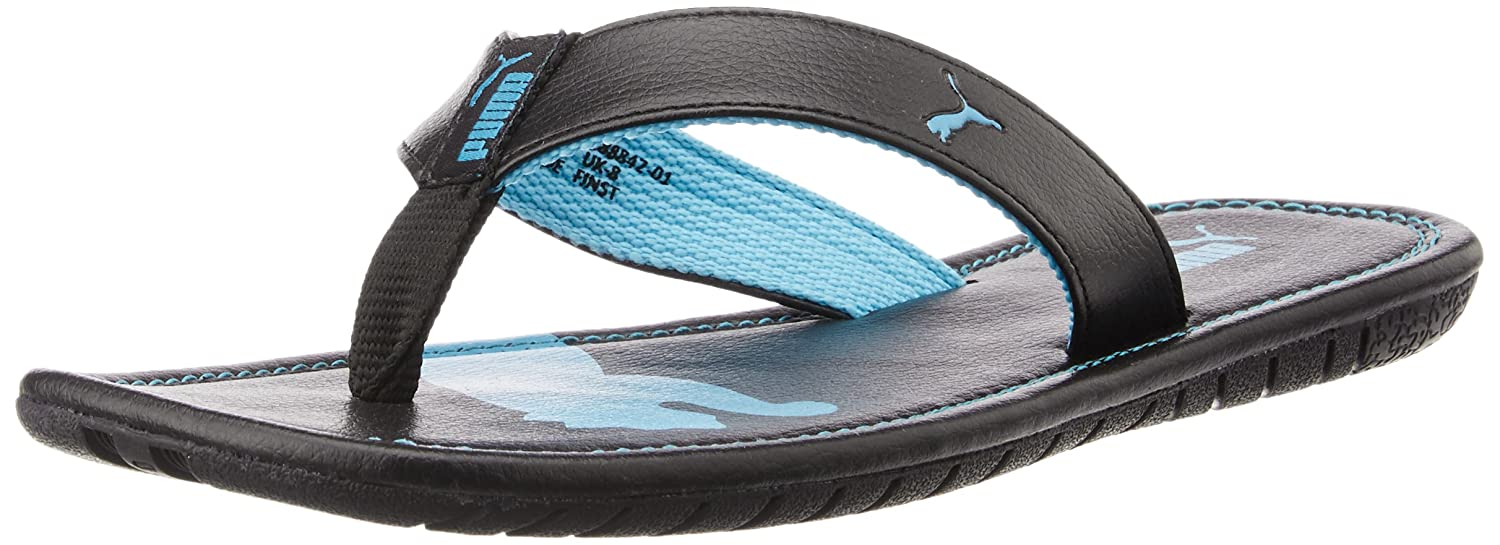 70c05742aacf2 Puma Men s Drifter Cat DP Black and Blue Atoll Hawaii Thong Sandals - 6  UK India (39 EU)  Buy Online at Low Prices in India - Amazon.in