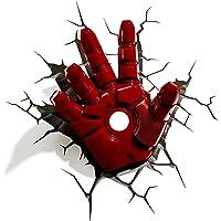 3D Light FX 816733840598 Marvel Iron Man lampka nocna 3D, wzór: ręka, czerwona