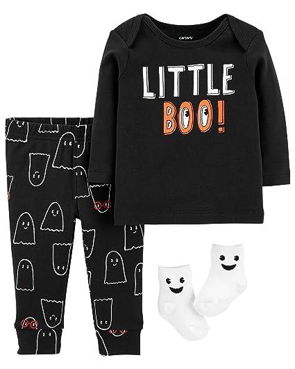 67721a072d2b Amazon.com  Carter s Baby Boy s 3-Piece Little Boo Halloween Set ...
